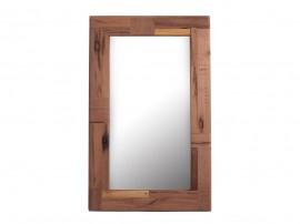 Огледало за стена Jaida HM8380 с дървена рамка от мангово дърво
