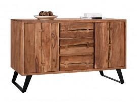 Дървен скрин HM8176 - Акация