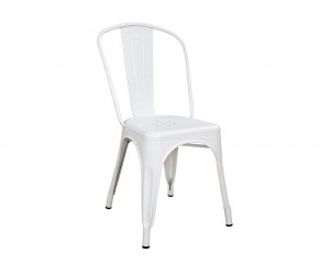 Метален стол Melita HM0018.21 - Бял