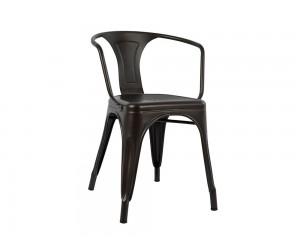 Метален стол Melita HM0019.04 с подлакътници - Ръждив
