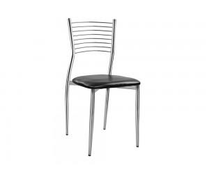 Трапезен стол Elvira HM0025.02 - тапицирана седалка с PU кожа