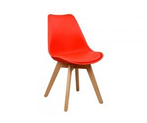 Комплект от 4 бр. трапезен стол с възглавничка Vegas HM0033.04 - Червен