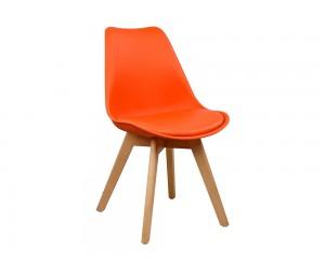 Комплект от 4 бр. трапезен стол с възглавничка Vegas HM0033.05 - Оранжев