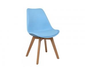 Комплект от 4 бр. трапезен стол с възглавничка Vegas HM0033.08 - Син