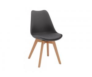 Комплект от 4 бр. трапезен стол с възглавничка Vegas HM0033.10 - Сив