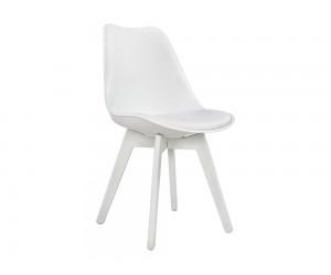Комплект от 4 бр. трапезен стол с възглавничка Vegas HM0033.31 - Бял