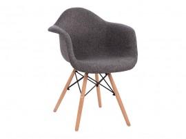 Комплект от 5 бр. трапезни столове с подлакътници Mirto HM005.50 - Сив
