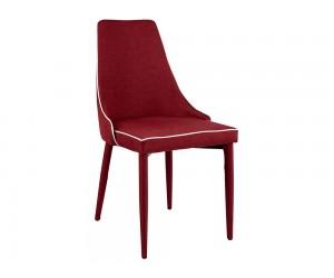 Комплект от 4 бр. тапициран трапезен стол Moli HM0064.04 - Бордо