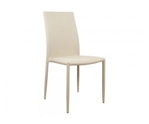 Комплект от 6 бр. тапициран трапезен стол Teta HM0065.01 - Кремав