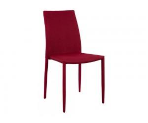 Комплект от 6 бр. тапициран трапезен стол Teta HM0065.04 - Бордо