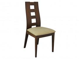 Комплект от 2 бр. трапезен стол HM0069.01 - Орех/Бежов