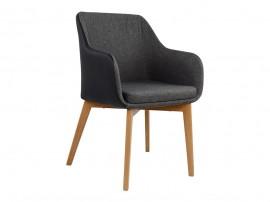 Комплект от 2 бр. тапициран стол Bristol HM0141.01 - Текстилна дамаска и PU кожа