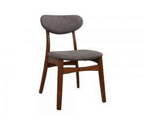 Комплект 2 бр. трапезни столове Loaded HM0151.03 - Орех/ Сив