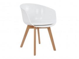 Комплект от 2 бр. трапезен стол с възглавничка Porthos HM0172.01 - Бял
