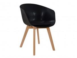 Комплект от 2 бр. трапезен стол с възглавничка Porthos HM0172.02 - Черен