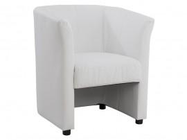 Кресло Appolon HM3090.01 - Бяла PU кожа