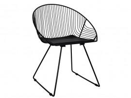 Комплект от 4 бр. метални столове с възглавничка Curve HM5466.01 - Черен