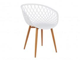 Комплект от 4 бр столове Ariadne HM8001.01 - полипропилен в бяло