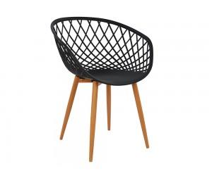Комплект от 4 бр. трапезни столове Ariadne HM8001.02 - полипропилен в черно