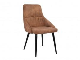 Комплект от 2 бр. луксозни трапезни столове Eden HM8008.03 - Кафяв Набук плат