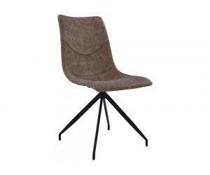 Комплект от 4 бр. тапициран трапезен стол Celeste HM8039.03 - Кафява PU кожа