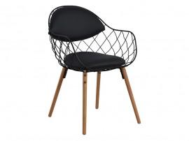 Комплект от 2 бр. трапезен стол Melia HM8047.01 - Черен/ Бук