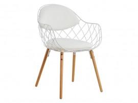 Комплект от 2 бр. трапезен стол Melia HM8047.02 - Бял/ Бук