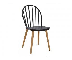 Комплект от 4 бр. Полипропиленов трапезен стол HM8118.02 с метални крака