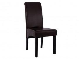 Комплект от 2 бр. тапициран трапезен стол Roxie HM8328.01 - Кафява PU кожа