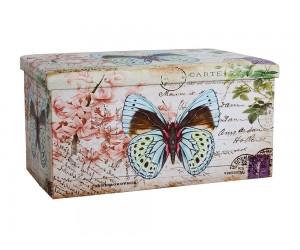 Сгъваема продълговата табуретка с ракла Butterfly HM259