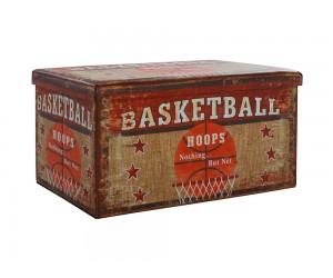 Сгъваема продълговата табуретка с ракла Basketball HM8130