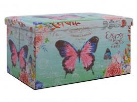 Сгъваема продълговата табуретка с ракла Butterfly HM8132