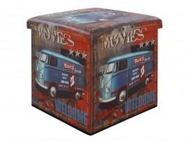 Дървена табуретка с ракла Movies HM8159 - Куб
