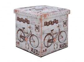 Дървена табуретка с ракла Bike HM8161 - Куб