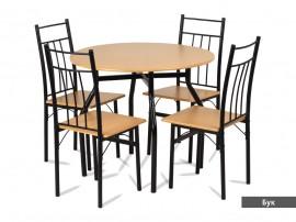 Комплект маса с 4 стола 20010
