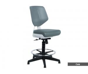 Работен офис стол Lab без подлакътници - Сив AS