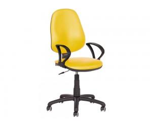 Офис стол Carmen polo с подлакътници Еко кожа - Жълт