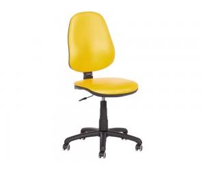 Офис стол Carmen Polo без подлакътници Еко кожа - Жълт