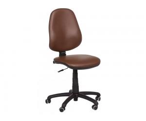 Офис стол Carmen Polo без подлакътници Еко кожа - Тъмно кафяв