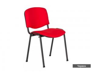Посетителски офис стол Carmen 1130 Lux - Червен