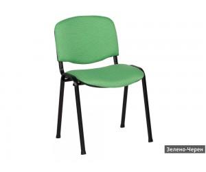 Посетителски офис стол Carmen 1130 Lux - Зелено/ Черен