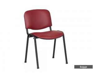 Посетителски офис стол Carmen 1131 Lux Еко кожа - Бордо