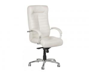Ергономичен президентски офис стол Carmen Orion Естествена кожа - Бял LUX