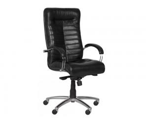 Ергономичен президентски офис стол Carmen Orion Естествена кожа - Черен LUX