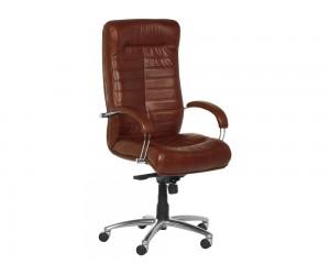 Ергономичен президентски офис стол Carmen Orion Естествена кожа - Табак LUX