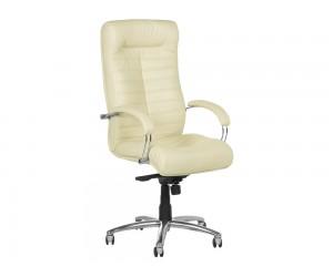Ергономичен президентски офис стол Carmen Orion Естествена кожа - Ванилия LUX