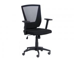 Работен офис стол Carmen 7039 с подлакътници и мрежа - Черен