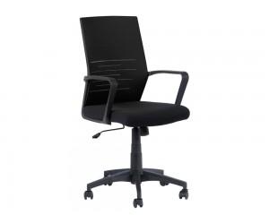 Работен офис стол Carmen 7041 с подлакътници и мрежа - Черен