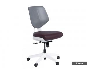 Кожен работен офис стол Smart без подлакътници - Какао AS