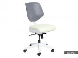 Кожен работен офис стол Smart без подлакътници - Ванилия AS